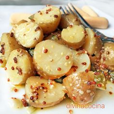 Receta de ensalada de patatas a la mostaza - Tapas, Vegetarian Recipes, Healthy Recipes, Healthy Meals To Cook, Cooking Time, Appetizer Recipes, Baking Recipes, Food To Make, Food Porn