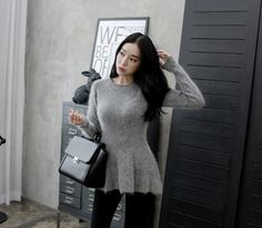 Loveliness of the female clothing shop. [Whitefox] Flickr Knit / Size : FREE / Price : 37.37 USD #korea #fashion #style #fashionshop #apperal #koreashop #ootd #whitefox #knit #dailylook