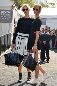 #modelswearblackandwhite
