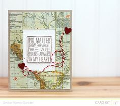 Love Map - Doing this for my traveling boyfriend. But varied a little.