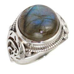 Labradorite 925 Sterling Silver Ring Jewelry Size- 7 SR-1444 #Allisonsilverco