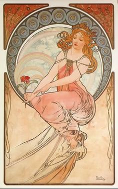 I love Mucha--I have this print as a card but I think I want to frame it.