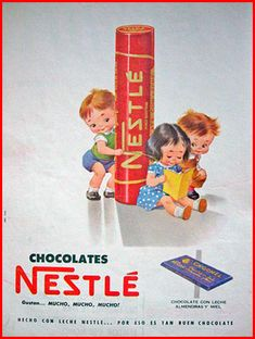 Sweets and chocolates have been around forever! This post takes a look at vintage and retro advertisements of some of our favorite treats, past and present. These advertisements range from the very. Vintage Advertising Posters, Old Advertisements, Advertising Ads, Vintage Candy, Retro Vintage, Vintage Toys, Nestle Chocolate, Classic Candy, Retro Housewife