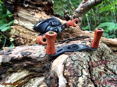 Megabass IS 63 Lariat / FX 68 / Daiwa SS Air Handemade Knobs Amboina / Amboyna Wood