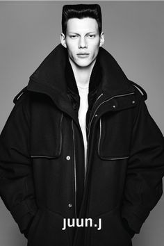 J 2013 Fall/Winter Campaign : Interpreting classic menswear with modern adaptations, Korean fashion imprint JUUN. Juun J, Fashion Brand, Mens Fashion, Revival Clothing, Fashion Advertising, The Right Man, Student Fashion, Portrait Poses, Portraits