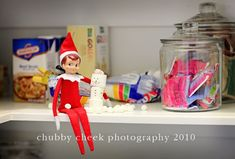 Elf on the Shelf builds a marshmallow snowman