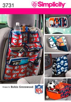 Car organizer? Professional pattern; has water bottle pocket