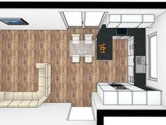 Compact Kitchen, Minimalist Kitchen, Modern Kitchen Design, Bedroom Decor, Home And Garden, Floor Plans, Loft, Interior Design, House