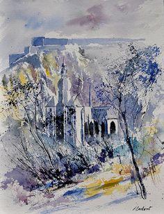 Pol Ledent - Dinant (watercolour)