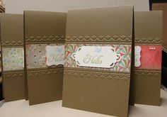 follow link to see the embossing folder technique used here (tutorial). Stampin Up! tulip embossing folder