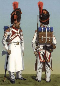 Dutch grenadiers of the French Imperial Guard