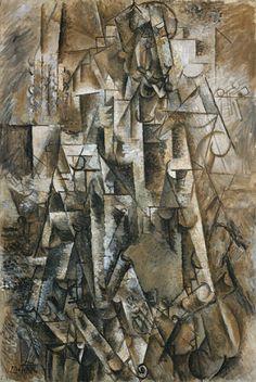 Pablo Picasso The Poet (Le poète), Céret, August 1911. Oil on linen, 51 5/8 × 35 1/4 inches (131.2 × 89.5 cm).