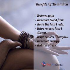 Benefits Of Meditation #meditation #stress #energy #healthy #thefitglobal