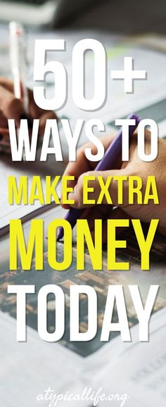 Want to make extra money? You are in the right place! This list of 50+ hand-picked ways to make extra money helps you earn money today and keep earning money into the future! Make money | make extra money | side hustles | work at home job | make money online