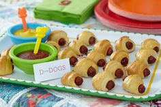 Pigs in a Blanket. Hot dogs wrapped in buns make for delightful finger food for baby shower guests.