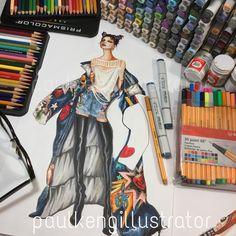 Fashion Illustration by @paulkengillustrator | Dolce & Gabbanna