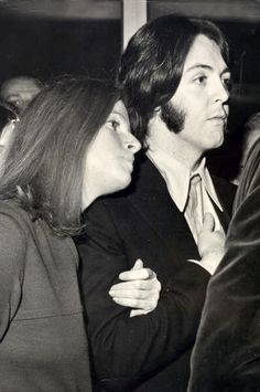 Linda Eastman-McCartney and Paul McCartney (I love that you can tell that they loved each other so much.)