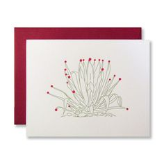 Letterpress Agave Holiday Cards, by inviting in Austin TX.