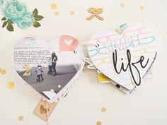 Felicity Jane oder *so happy! Mini Scrapbook Albums, Mini Albums, Project Life, Decorative Storage, Diy Storage, Mini Books, Diy Gifts, Heart Shapes, Blog