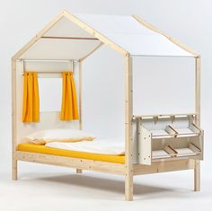 Students from Germany's Burg Giebichenstein University of Art and Design have designed a range of children's furniture that includes house-shaped beds