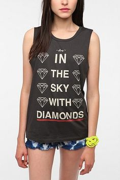 Lucy in the sky with diamonds tank...how awesome!! May have to order this one...