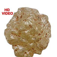 0.76 Ct Natural Loose Diamond Rough Natura Shape Light Yellow Color 4.30MM N3459 #Narshihagemandjewels