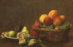 Henri Fantin-Latour Still Life with Fruit circa 1880