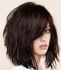 Brilliant Short Shaggy Hairstyles With Eye Skimming Bangs