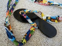 DIY Friday: Fabric Wrapped Flip Flops @Seth Combs to Stunning