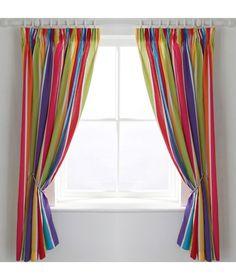 Buy ColourMatch Kids' Stripe Blackout Curtains - 168 x 137cm at Argos.co.uk - Your Online Shop for Curtains.