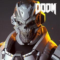DOOM - Cyber-Demonic Armor, Emanuel Palalic on ArtStation at https://www.artstation.com/artwork/xKemY