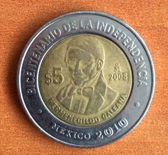 Hermenegildo Galinda, moneda del bicentenario.
