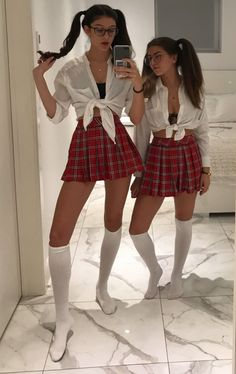 Mode Outfits, Outfits For Teens, Sexy Outfits, Girl Outfits, Fashion Outfits, School Girl Dress, School Dresses, Girls Dresses, Plaid Pleated Mini Skirt