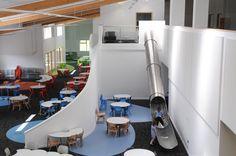 Wallscourt Primary School Interior Design by Dominique Brown. Environment as the Third Teacher. Open Plan School. Bristol