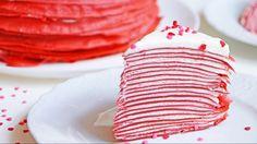 Красный бархат БЛИННЫЙ ТОРТ на 14 февраля ❤ торт на день СВЯТОГО ВАЛЕНТИНА