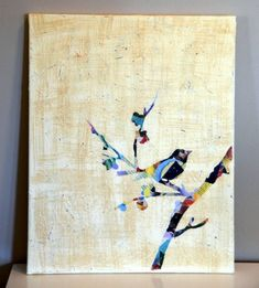 vogel natur Leinwandbilder selber gestalten diy