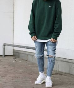 Rich Kids of Dubai : Always keeping it simple 🤙 Dope Outfits For Guys, Stylish Mens Outfits, Mode Style, Mens Clothing Styles, Men Casual, Skinny, Fashion Outfits, Jeans, Supreme Palace
