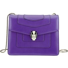 BVLGARI Serpenti Forever leather shoulder bag ($1,835) ❤ liked on Polyvore featuring bags, handbags, shoulder bags, violet dark, pocket purse, leather shoulder handbags, real leather handbags, leather handbags and clasp purse