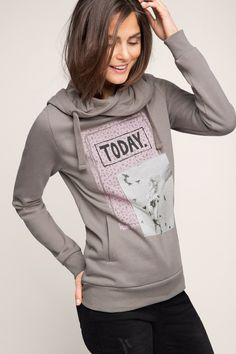 EDC / Sweatshirt mit großer Kapuze
