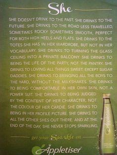 A rather-lovely advertorial for Appletiser.