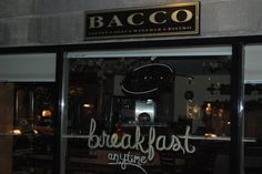 Breakfast lover? Bacco's is the place for you, they serve breakfast all day!