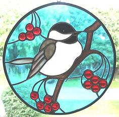 Chickadee from Faux Finis Stained Glass