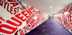 corridor graphics for Westpac by THERE