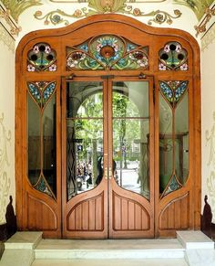 Art Nouveau and stained glass by Bluheart