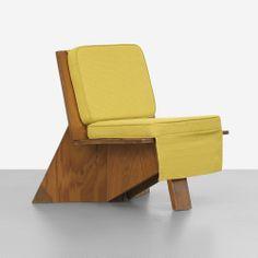 Frank Lloyd Wright designed lounge chair for the Stanley Rosenbaum House.