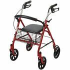 Durable 4 Wheel Rollator Wheels by Drive Medical Adult Walker Portable Chair Walker Medical, Mobility Aids, Folded Up, Health And Beauty, Basket, Wheels, Euro, Medical Equipment, Sita Ram