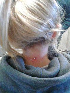 My neck dermal piercing.