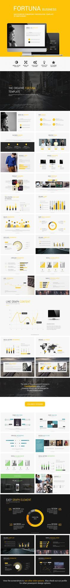 FORTUNA - Multipurpose Presentation Template - Business Powerpoint Templates