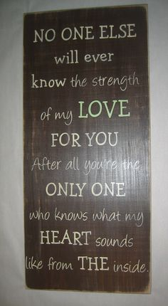 New LARGE 12 x 25,  No one else will ever know the strength of my LOVE for you, Baby, Boy, Girl, Nursery, Distressed, Sign on Etsy, $60.00