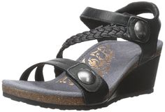 Aetrex Women's Naya Braid Qtr Strp Wdge Sndl Wedge Sandal * Wow! I love this. Check it out now! : Wedge sandals